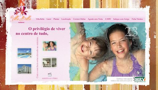 Hotsite do Villa Bella - lançamento em Londrina