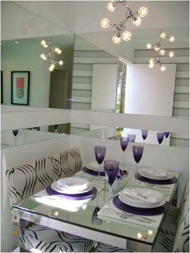 Exemplo de decoração cômodo pequeno, sala 2 ambientes