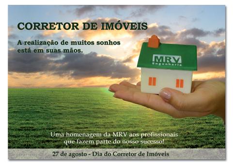 Dia do corretor - Cartao endomarketing MRV Engenharia