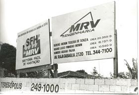 Placa de empreendimento MRV  - Primeira logomarca da construtora