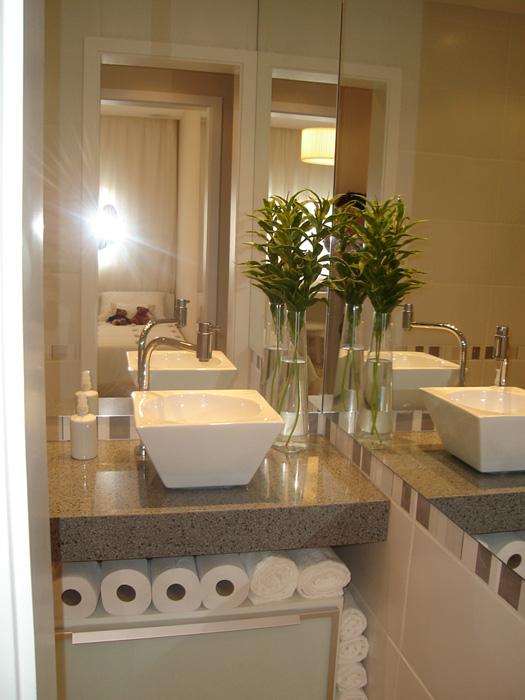 Banheiro é um dos cantos prediletos da casa