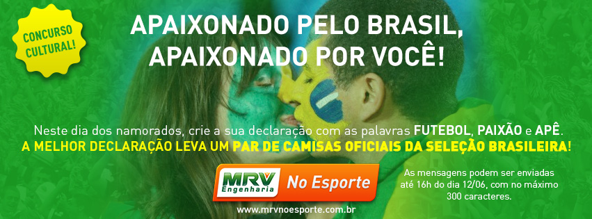 #MRVnoEsporte informa: Concurso Cultural Dia dos Namorados