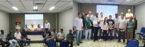 Trabalhadores do residencial Recanto do Beija Flor concluem curso de aplicador de revestimento de cerâmica no Rio de Janeiro