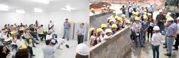 Alunos do curso de engenharia civil da UFBA visitam canteiro de obras modelo da MRV Engenharia