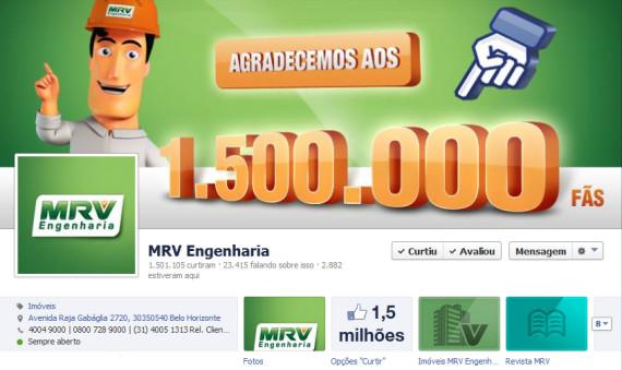 Com investimentos nas mídias sociais, MRV Engenharia alcança 1,5 Milhão de seguidores no Facebook
