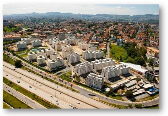 Vista área do Mundi Condomínio Resort no bairro Camargos