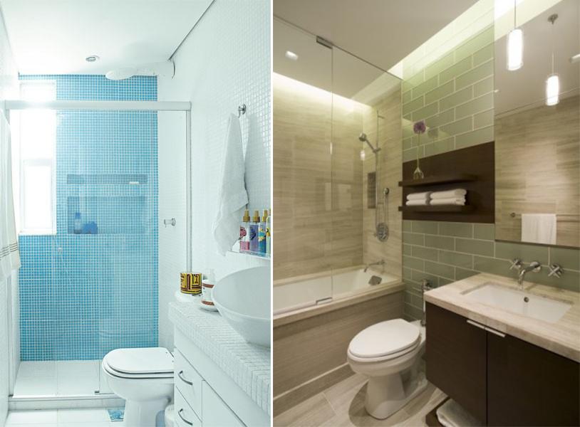 Como organizar e decorar o banheiro gastando pouco  Blog Corporativo MRV Eng -> Banheiro Pequeno Tinta