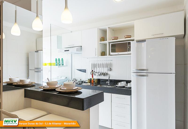 Cozinhas planejadas para apartamentos pequenos blog mrv for Modelos de apartamentos pequenos