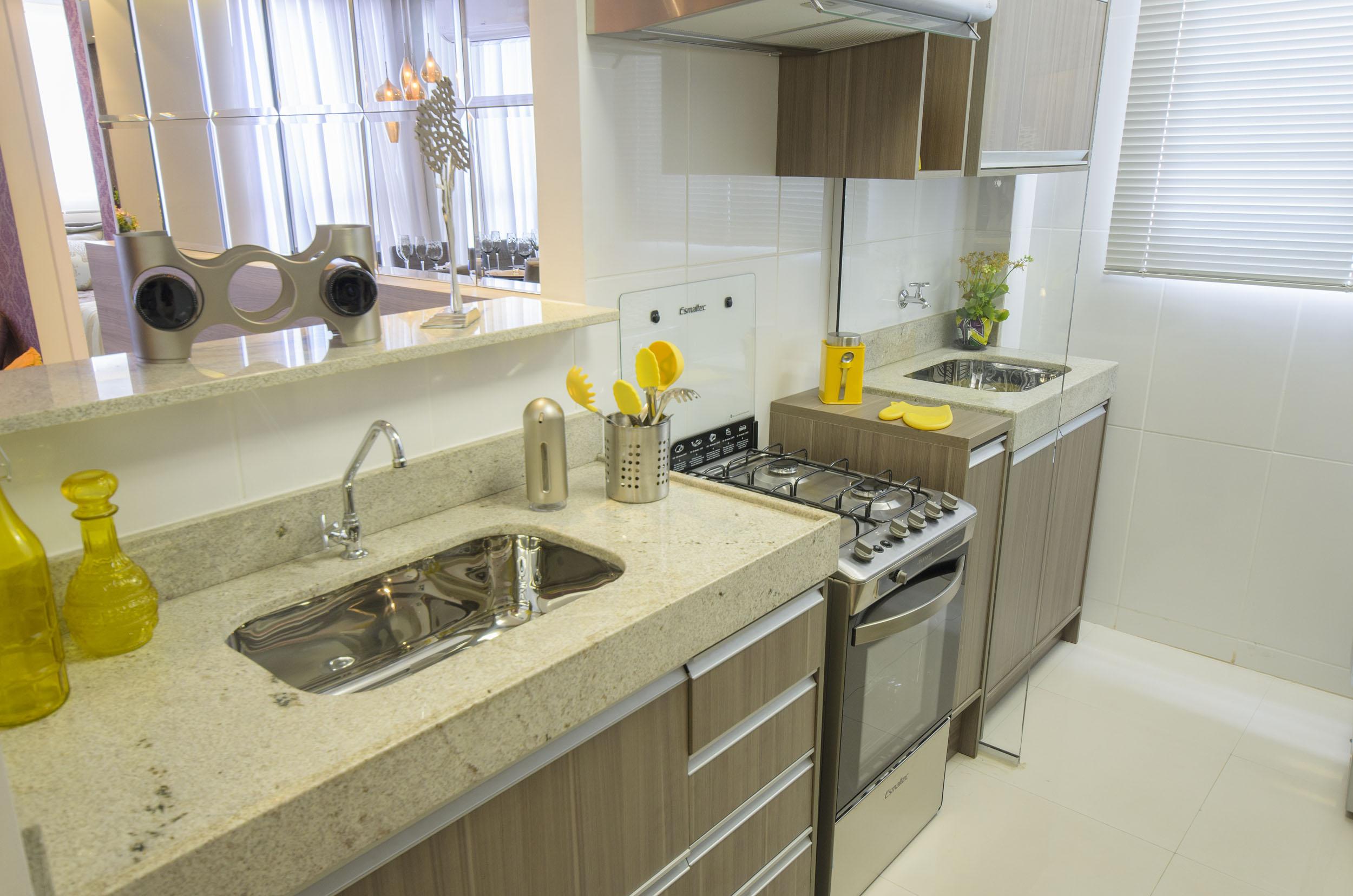 Cozinha E Lavanderia No Mesmo Ambiente Como Decorar Blog Mrv  ~ Cozinha Decorada Com Pastilhas