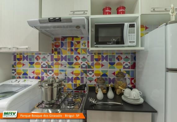 Apartamento decorado: Parque Bosque dos Girassóis