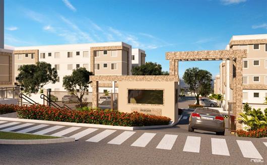 Imagem da fachada do condomínio Parque Monte Stella