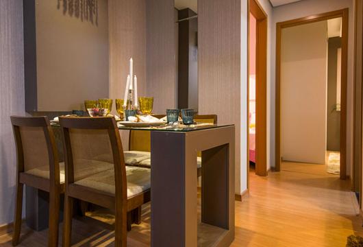 Apartamento MRV decorado com piso laminando em seu acabamento