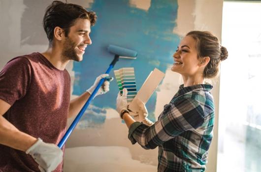 Renovar a pintura das paredes de casa