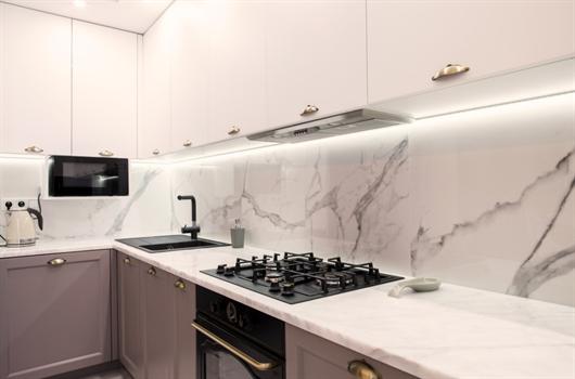 Cozinha decorada MRV estilo americana