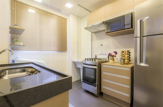 Cozinha planejada e decorada MRV