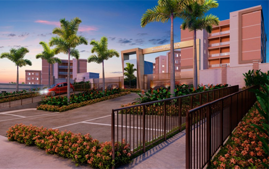 Fachada do condomínio Residencial Morada Paulista em Mogi das Cruzes